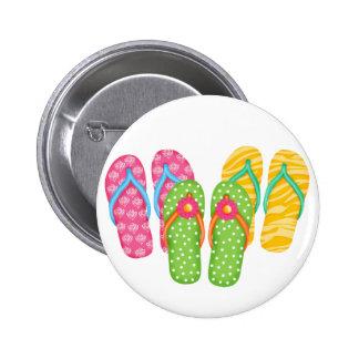 Summer Flip Flops 6 Cm Round Badge