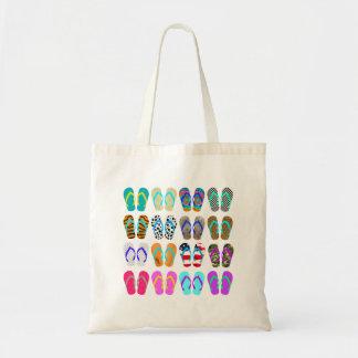 Summer Flip-Flops Chart Tote Bag