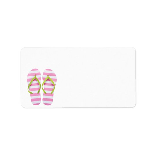 Summer Flip Flops Isolated On White Background Label