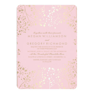 Summer Floral Baby's Breath Elegant Wedding Card