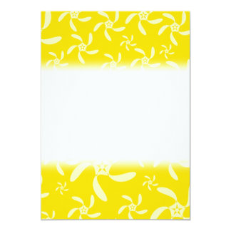 Summer Floral Design. Sunny Yellow. 13 Cm X 18 Cm Invitation Card