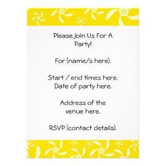Summer Floral Design Sunny Yellow Custom Invitation
