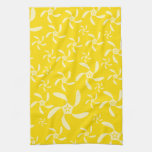 Summer Floral Design. Sunny Yellow. Kitchen Towels