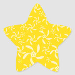 Summer Floral Design. Sunny Yellow. Star Stickers
