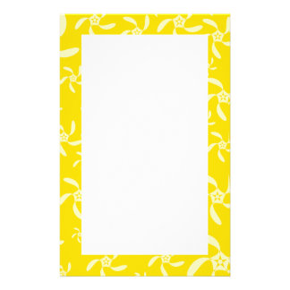 Summer Floral Design. Sunny Yellow. Stationery