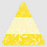 Summer Floral Design. Sunny Yellow. Triangle Sticker