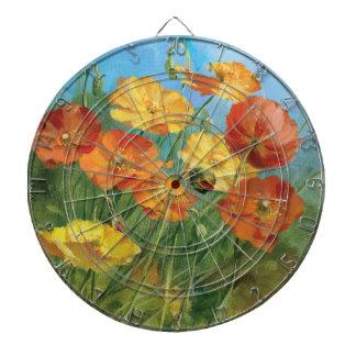 Summer Floral Field Dartboard