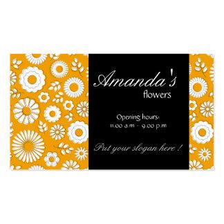 Summer floral orange Business Card
