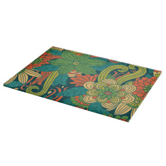 Summer floral pattern cutting board