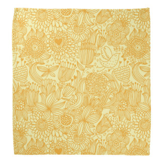 Summer floral pattern in warm colors bandana