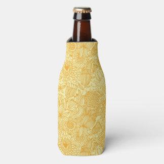 Summer floral pattern in warm colors bottle cooler