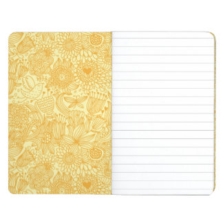 Summer floral pattern in warm colors journal