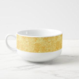 Summer floral pattern in warm colors soup mug