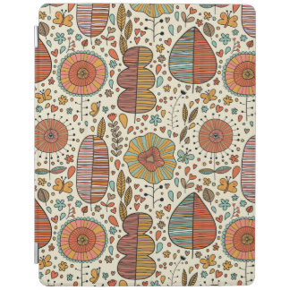 Summer floral pattern made of leaves iPad cover