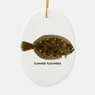 Summer Flounder Christmas Ornament