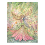 Summer Flower Faerie Postcard