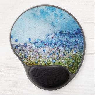 Summer Flower Field - Original alcohol ink design Gel Mouse Mat