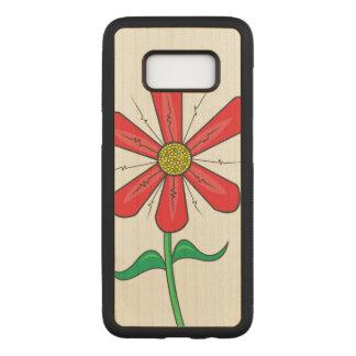 Summer Flower Illustration Carved Samsung Galaxy S8 Case