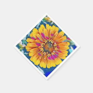 Summer Flower in Full Bloom Disposable Napkins