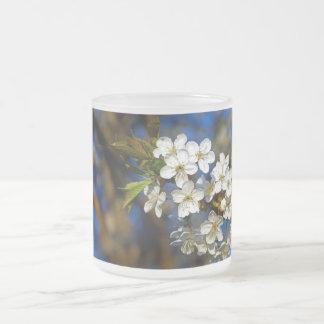 Summer Flower 10 Oz Frosted Glass Coffee Mug