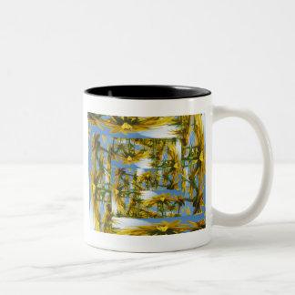 Summer Flower Patchwork Mug