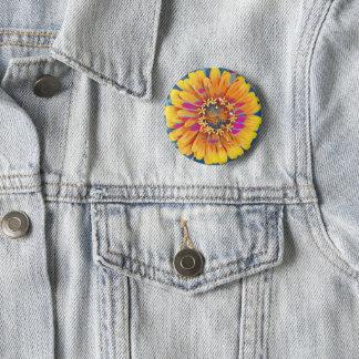 Summer Flower Pop 6 Cm Round Badge