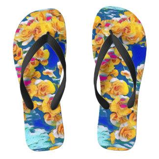 Summer Flower Pop (Flip Flops) Flip Flops