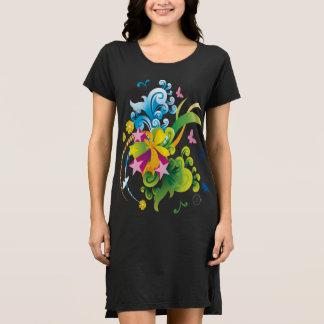 Summer Flower Power T-Shirt Dress
