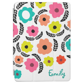 Summer Flowers and Black Leaf iPad Air Cover