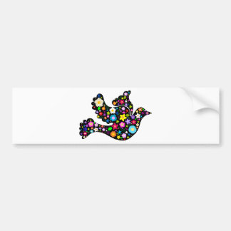 Summer Flowers Dove Bumper Sticker
