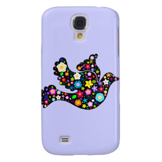 Summer Flowers Dove Galaxy S4 Case