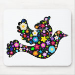 Summer Flowers Dove Mousepad