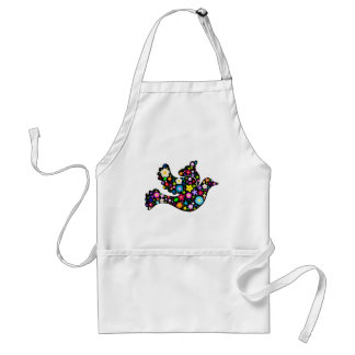 Summer Flowers Dove Standard Apron