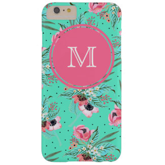 Summer Flowers - Personalized Teal iPhone Case