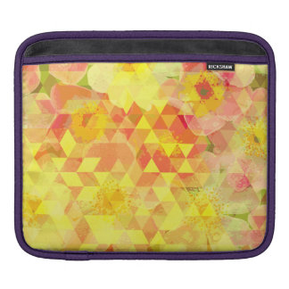 Summer Flowers Triangle Pattern iPad Sleeve