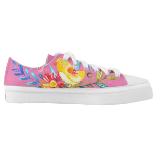 Summer Flowers Zipz Low Top Shoes US-Women Printed Shoes