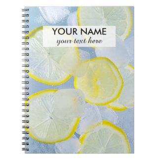 summer fresh lemon ice soda drink photograph notebook