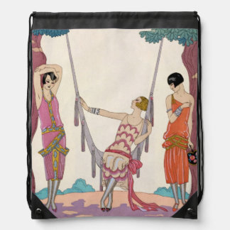 Summer, from 'Gazette du Bon Ton', 1925 Drawstring Bag