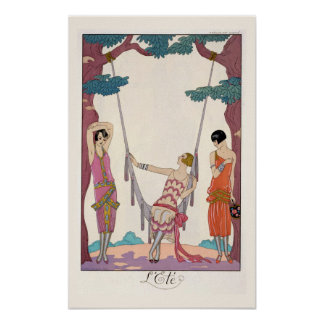 Summer from Gazette du Bon Ton 1925 Poster