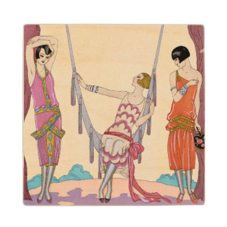 Summer, from 'Gazette du Bon Ton', 1925 Wood Coaster