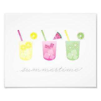 Summer Fruit Drink Art Photo Print
