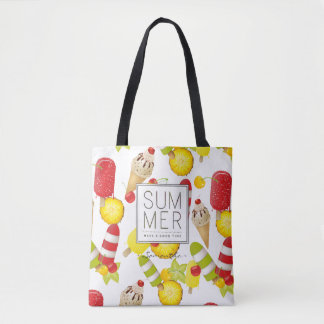 Summer Fruits and Ice-Cream Fun Tote Bag