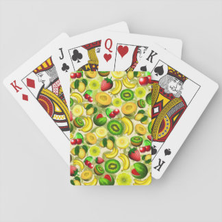 Summer Fruits Juicy Pattern Playing Cards