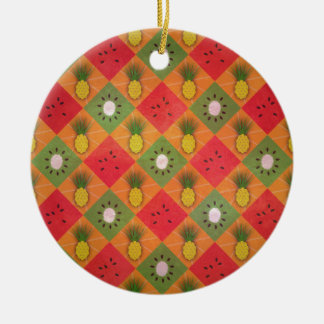 Summer Fruits Pattern Christmas Ornament