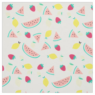 summer fruits pattern fabric