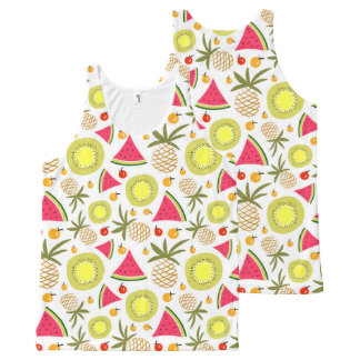 Summer fruits pattern Unisex Tank Top All-Over Print Tank Top