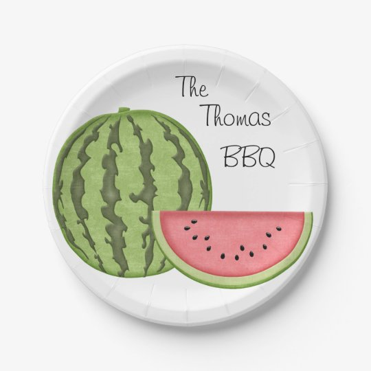Summer Fun, BBQ, Watermelon, Personalised, 7 Inch Paper