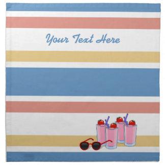 Summer Fun custom  cloth napkins