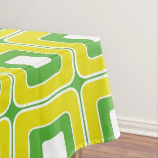 Summer Fun Green and Yellow Tiles Tablecloth