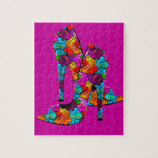 Summer Fun High Heel Shoes Jigsaw Puzzle
